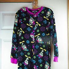 Tweety Bird Pajamas Medium One Piece Footed Sleepwear Looney Tunes Snowflake