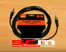 3.5mm TRS to 3.5mm TRS STEREO CABLE 3m (10') length ASHTON SC88S