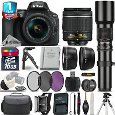 Nikon D5600 DSLR Camera + 18-55mm VR + 500mm Lens + Extra Battery + 1yr Warranty
