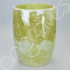 Green Sparkle mosaico Cestino camera da letto bagno Tidy Cesto di carta