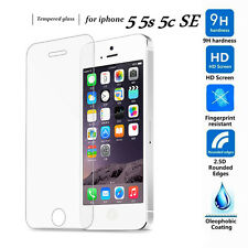 2X 100% Genuine Clear Tempered Glass Screen Protector for  iPhone SE / 5S / 5