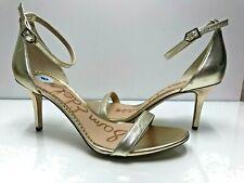 Sam Edelman Size 9 New Women's Gold Metallic Open Toe High Heels Pumps Beautiful