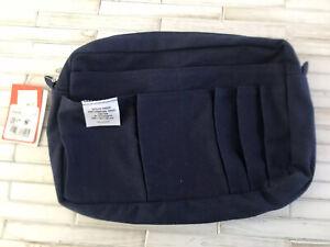 Delphonics Pouch  Blue Navy Dark M Bullet Journal Art Supply Storage NWT  Cotton