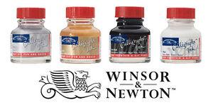 Winsor & Newton Kalligraphie Tinte 30ml Flasche I Gold,Silber,Schwarz oder Weiß
