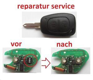 opel movano vivaro SERVICE Fernbedienung Schlüssel Funkschlüssel