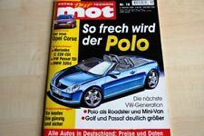 1) MOT 19/2000 - Opel Corsa C 1.4 Sport mit 90P - Kia Rio 1.5 LS mit 98PS im TES