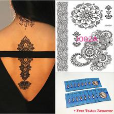 J002A Black Henna Temporary Tattoo Transfer Inspired Fashion Tattoo Sticker