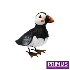 Primus Vintage Look Hand Crafted Metal Puffin Garden Bird Ornament Sculpture