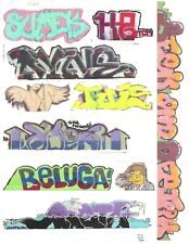 G SCALE GRAFFITI DECALS G12 FROM REAL GRAFFITI PHOTOS LASER PRINTED