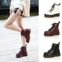 Platform Autumn Winter Warm Motorcycle  Women's Punk Style Ankle Boots