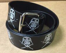 NEW STAR WARS Darth Vader PVC Coated Leather Snap On Belt  M/L 32-34 Waist RARE