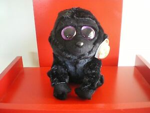 Ty Beanie Boos GEORGE the gorilla 6 inch  NWMT.  BRAND NEW IN STOCK NOW.