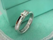 TIFFANY & CO. 18K White Gold Diamond Stacking Ring Sz 6