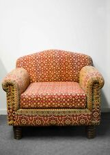 Colorful Armchair Vintage Country Sofa Chair Indian Hand Stitched Upholstery