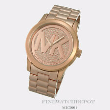 Authentic Michael Kors Women's Runway Rose Gold-Tone Watch MK5661