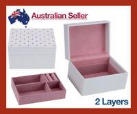 Jewellery Box Cosmetic Make Up Organiser PU Leather Case Storage Gift Womens NEW