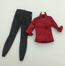 Hot Toys Ada Wong 1/6 Red Shirt & Black Leather Pants for Resident Evil Body