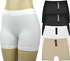 Women's Seamless Boyshorts Underwear Panties Underskirt Shorts (Value Pack of 4)