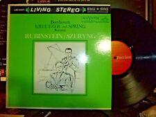 "BEETHOVEN ""Kreutzer and Spring Sonatas"" RUBINSTEIN, SZERYNG LP NM/NM Reissue"