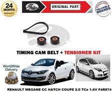 FOR RENAULT MEGANE CC COUPE 2.0 16v TCE F4R874 2009-> TIMING BELT TENSIONER KIT