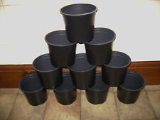 6 X 15CM 1.5 LITRE 6 INCH ROUND BLACK PLASTIC PLANT POTS ( CLICK ON THE LINK )