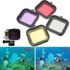 4 Farben Tauchen Filter Objektivabdeckung UV-Schutz für Camera GoPro Hero 4 3+