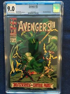 Avengers #45 - CGC 9.0 - Off-White To White Pages