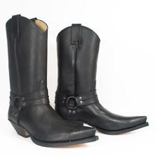 Sendra Men's Spanish Cowboy / Biker black leather harness boot.