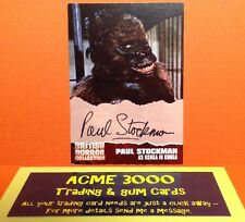 British Horror Collection Unstoppable Paul Stockman Autograph Card PS1 Konga
