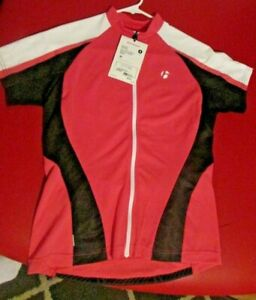 BONTRAGER  CYCLING BICYCLE BIKE JERSEY WOMEN'S SIZE SMALL PINK & BLACK S