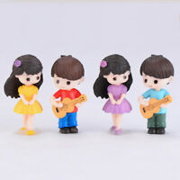 Guitar Couple Mini Miniature Figurine Garden Dollhouse Decor Micro Landscape_ti
