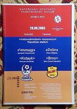 Programs Kotayk Armenia - Brno Czech 2003