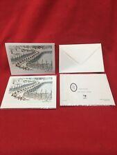 2 Blank Winter Xmas Holiday Note Card Envelope Harald Wiberg Elf's Elf Sweden!!!