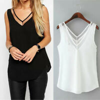 Fashion Womens Summer Loose Sleeveless Casual Tank T-Shirt Blouse Tops Vest