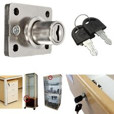 Cam Lock Kit + 2 Keys For Cabinet Cupboard Door Office Drawer Mailbox Cabinet