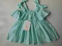 ADORABLE BABY GIRL 'COUNTRY ROAD' SHIRRED DRESS SIZE 000 FITS 0-3M *NEW *GIFT