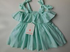 ADORABLE BABY GIRL 'COUNTRY ROAD' SHIRRED DRESS SIZE 00 FITS 3-6M *NEW *GIFT