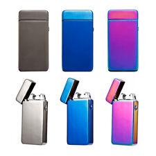 Elektro Feuerzeug Dual Zigarette Plasma Aufladen Winddicht Flammenlose USB Top