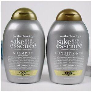 OGX 13 Oz Youth Enhancing Sake Essence Ginseng Protein Shampoo & Conditioner Set