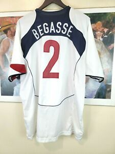 Team USA Begasse #2 White Jersey Nike Dri Fit Size 2XL Soccer World Cup