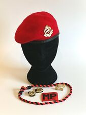 British Army Royal Military Police Beret, Collar Badges, TRF & Lanyard. 54cm.