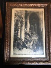 Hedley Fitton (1859-1929) Morning, Saint-Étienne-du-Mont, Paris etching Framed
