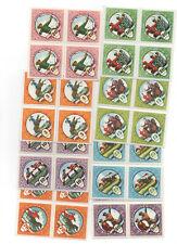 Lot 19,Briefmarken, Mongolei, 8x 4er Blöcke