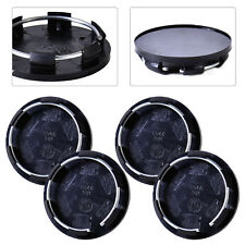 4x 50mm Car Wheel Center Blank Cap Hubcap Covers Fit VW Mazda Hyundai Honda Ford