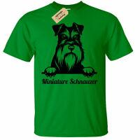Miniature Schnauzer T-Shirt Mens dog lover gift doge present