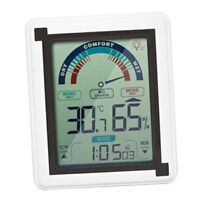 Wireless Large Touch Screen Weather Station Clock Hygrometer Humidity Meter