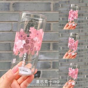 Starbucks Color-changing Sakura Glasses Coffee Cup W/ Stir Stick Limited Edition