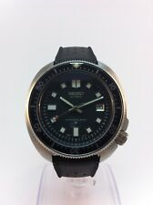 "Seiko (SII) Automatic Diver 6105-8110 Modded Watch ""LOCK"" crown Tropic"