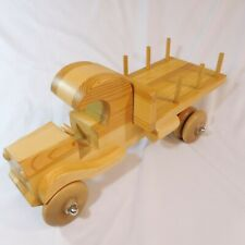 HandMade Wooden Truck Toy  Collectible Scaled Hand Crafted Wood Truck 17x6x7 in.