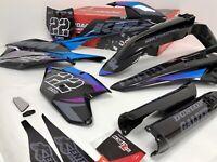 Black Factory Graphics Kit SXF 250 350 450 2018 2019 2020 Fits: KTM